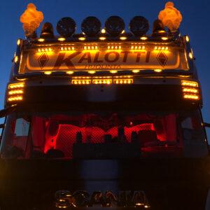 Downlight+positionsljus passar till Scania